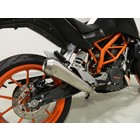 Spark Exhaust Technology KTM Duke 390 GP style silencer low. stainless steel