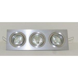 R&M Line Aluminum recessed downlight 3 light Tilt Blade 3X50