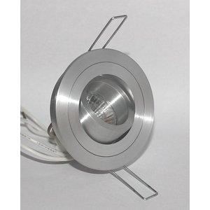 R&M Line Inbouwspot Mini Tilt Blade 35 Rond  aluminium-mat