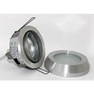R&M Line Inbouwspot / badkamerlamp Steam IP65 aluminium-mat kantelbaar
