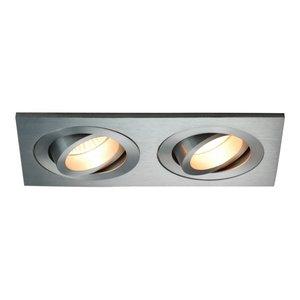 R&M Line Double recessed spot 2 light Tilt Blade 2X50