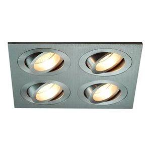 R&M Line Aluminum recessed spotlight 4 light Tilt Blade 4X50