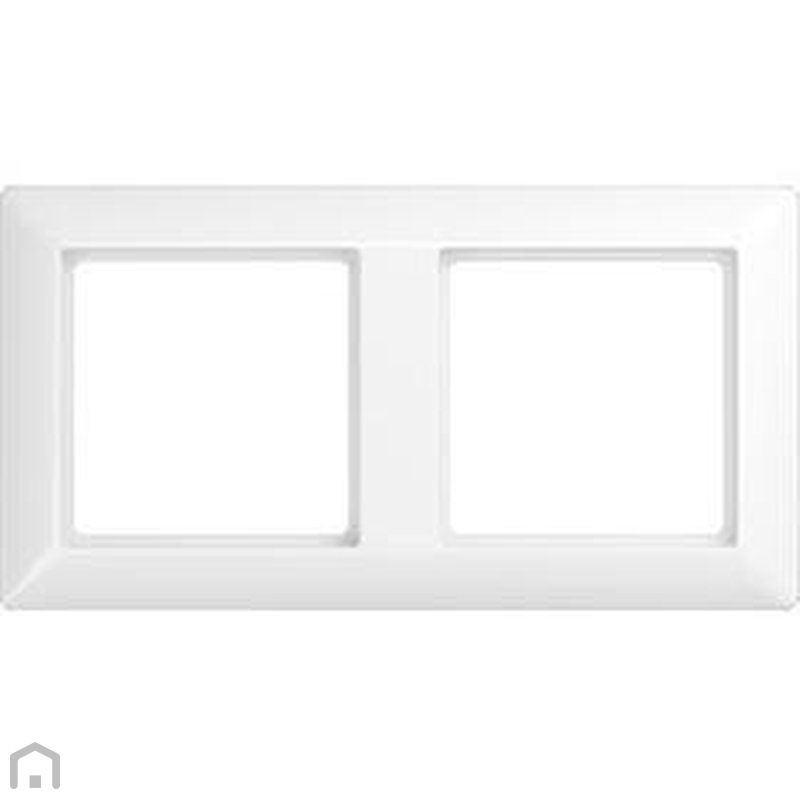 jung afdekraam 2 voudig wit glans as582ww r m verlichting. Black Bedroom Furniture Sets. Home Design Ideas