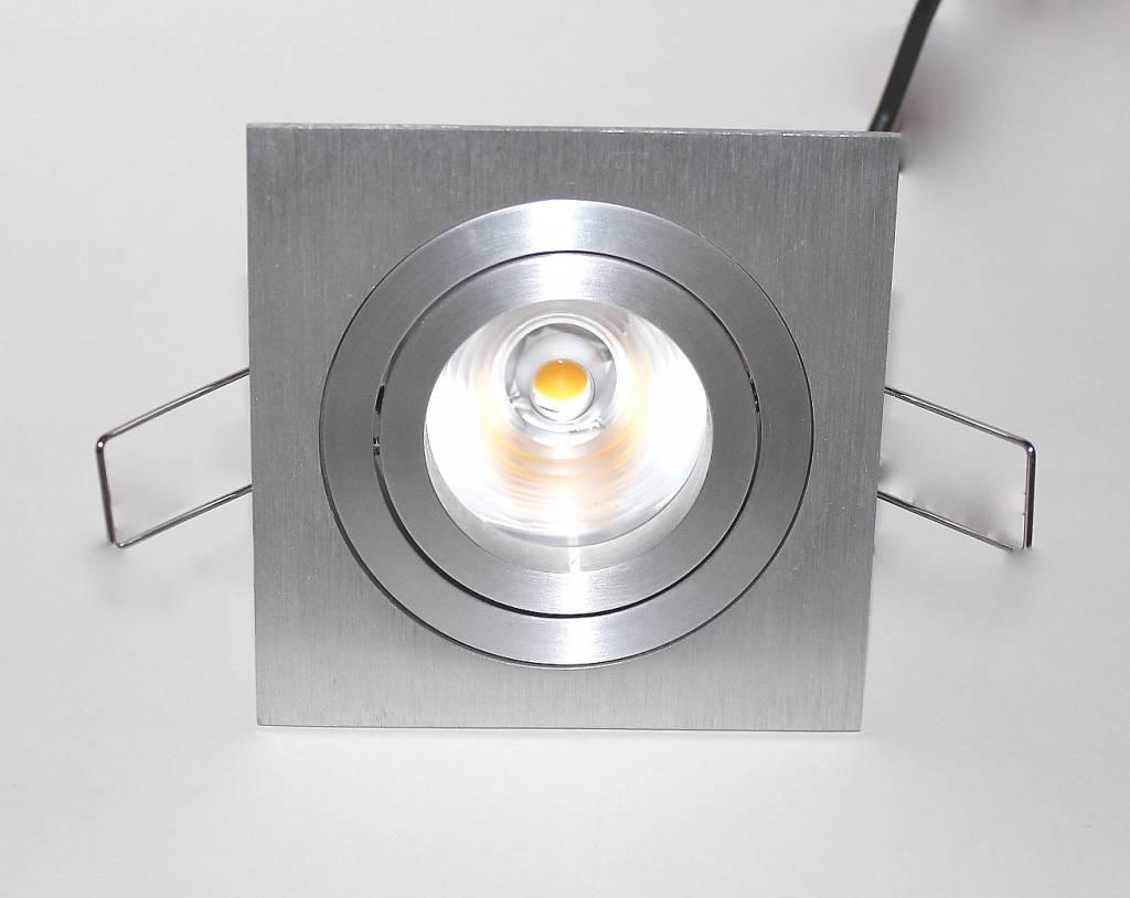 Led inbouwspot vierkant aluminium w ip dimbaar r m