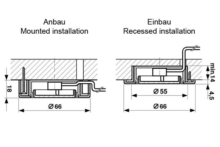 sensor push in opbouwschakelaar soft touch dimmer 230v r m verlichting. Black Bedroom Furniture Sets. Home Design Ideas