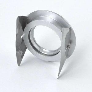 R&M Line Inbouwspot FIX blade rond 12v-230v aluminium-mat