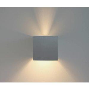 R&M Line Wandlamp Square aluminium-mat G9 230v