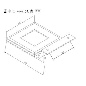 R&M Line LED kast verlichting 2.2w 12v DC warm wit