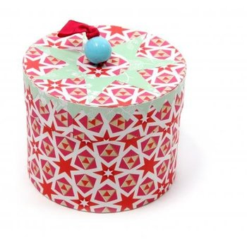 Rie Elise Larsen Ronde doosjes met deksel rood