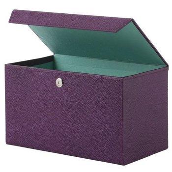 Bungalow Opbergbox met magneetsluiting kleur aubergine