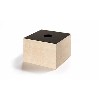 The Oak Men Opbergbox in eik met zwart deksel medium