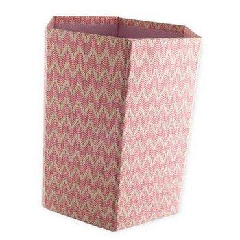 Bungalow Opvouwbare papiermand met print fel roze