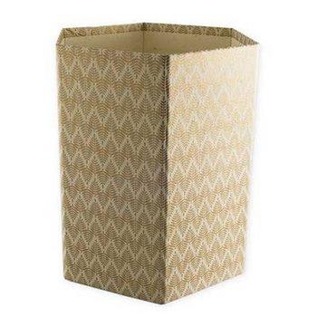 Bungalow Opvouwbare papiermand met print goud