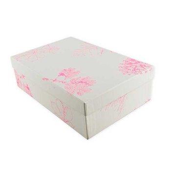 Fröhstoff Kleine opbergdoos met print in zeefdruk, roze planten