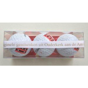 Golfballen met de vlag van Ouder-Amstel