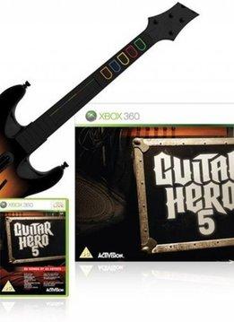 Xbox 360 Guitar Hero 5 incl. Wireless Gitaar