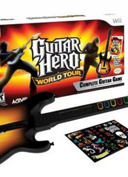 Wii Guitar Hero World Tour incl. Gitaar