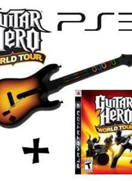PS3 Guitar Hero World Tour incl. Gitaar
