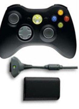 Xbox 360 Wireless Controller met Quick Charge Kit alle kleuren