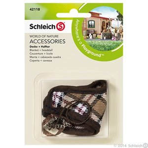 Schleich 42118 Geruite deken met halster