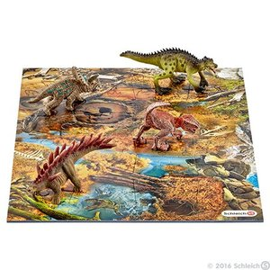 Schleich Mini dino's met moeras puzzel