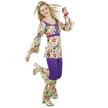 Hippie Kostuum Dames Deluxe medium