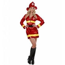 Brandweervrouw Kostuum Metallic