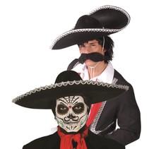 Sombrero Zwart 55cm