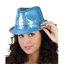 Glitter Hoed Blauw