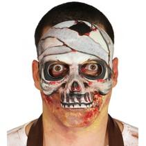 Halloween Masker Skelet Mummy half