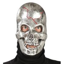 Halloween Masker Schedel Metallic voorkant