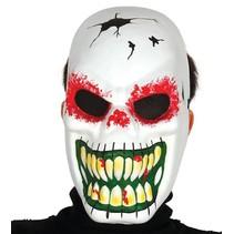 Halloween Masker Skelet Wit voorkant