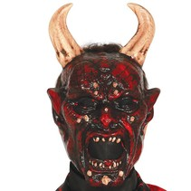 Halloween Masker Duivel Beelzebub voorkant