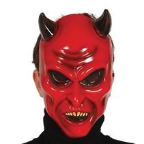 Halloween Masker Duivel Rood voorkant