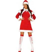 Kerstvrouw Jurkje Santa S/M