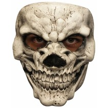 Halloween Masker Schedel Wit Deluxe voorkant