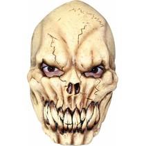 Halloween Masker Gebroken Schedel Deluxe voorkant