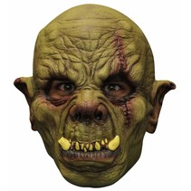Halloween Masker Orc Green Deluxe volledig