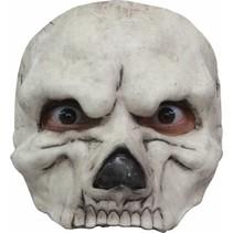 Halloween Masker Schedel Wit Deluxe half