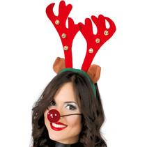 Kerst Haarband Rendier met bellen