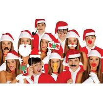 Photo Booth Props Kerst 12 stuks