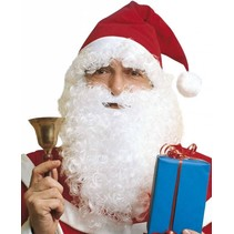 Kerstman Baard en Kerstmuts met haar