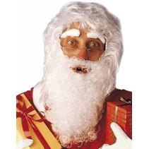 Kerstman Baard en Pruik Wit