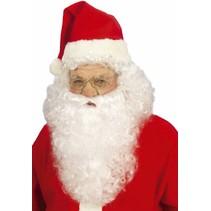 Kerstman Baard en Pruik Set Deluxe