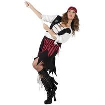 Piratenpak Dames Rood medium