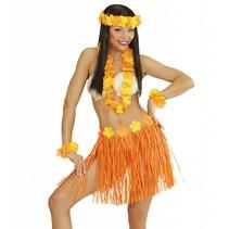 Hawaii Rokje Set Oranje 5 delig