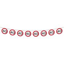 Slingers 40 Jaar Verkeersbord 12 meter