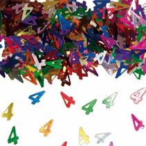 Tafelconfetti 4 Jaar 1cm 600 stuks