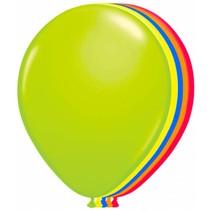Neon Ballonnen 25cm 8 stuks
