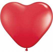 Rode Hart Reuze Ballon XL 90cm